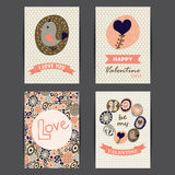 Valentine's day cards set Royalty Free Stock Image