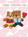 Valentine's day cartoon Royalty Free Stock Photos