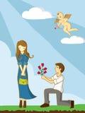 Valentine's day cartoon Royalty Free Stock Photo