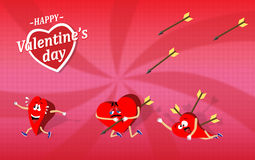 Valentine's day cartoon Stock Photo