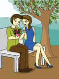 Valentine's day cartoon Stock Photography