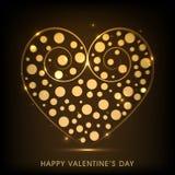 Valentine's Day celebration greeting card. Stock Image