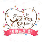 Valentine's Day celebration greeting card. Royalty Free Stock Photo