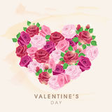 Valentines Day celebration greeting card design. Royalty Free Stock Photography