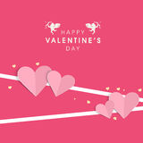 Valentines Day celebration greeting card design. Stock Image