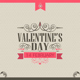 Valentines Day celebration greeting card design. Royalty Free Stock Images