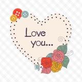 Valentine's Day celebration with heart shape frame. Stock Photography