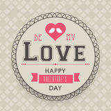 Valentine's Day celebration with rounded frame. Stock Photos