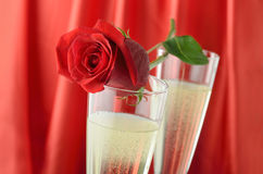 Valentine's Day Champagne Stock Image