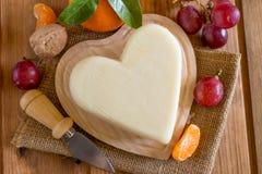 Valentine`s day cheese Stock Photo