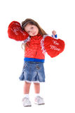 Valentine's day child. Stock Photo