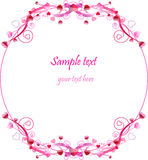 Valentine's Day circle ornament Stock Photography