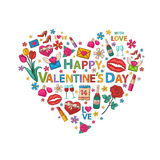 Valentine's Day clip art Royalty Free Stock Photography