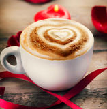 Valentine's Day Coffee royalty free stock photo