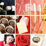 Valentine`s day collage Royalty Free Stock Photo