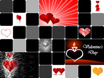 Valentine's day collage. Vector illustration Stock Illustration