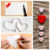 Valentine's day collage of photos Royalty Free Stock Photography