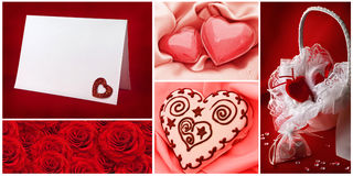 Valentine`s day collection Royalty Free Stock Photo