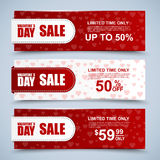 Valentine's day collection sale banners Stock Image