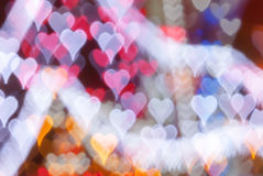 Valentine's Day colorful heart background Royalty Free Stock Images