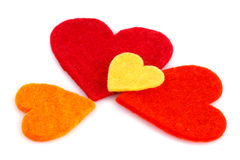 Valentine's day. Colorful hearts isolated on white background Stock Images