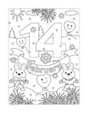 Valentine`s Day coloring page royalty free stock images