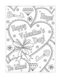 Valentine`s Day coloring page royalty free stock photo