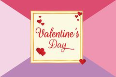 Valentine`s Day With Colour Background vector illustration