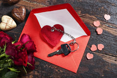 Valentine's day composition Stock Photos