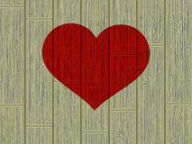 Valentine's day concept heart on wood. EPS 8 Stock Images
