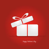 Valentine's day concept illustration with gift box Royalty Free Stock Photos