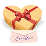 Valentine's day concept illustration with gift box Royalty Free Stock Image