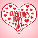 Valentine`s day concept illustration with heart symbol suitable for advertising and promotion. Happy valentines day and weeding . royalty free illustration