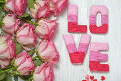 Valentine's day concept with letters love Stock Image