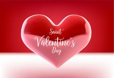Valentine s day concept. Vector illustration. 3d colorful hearts with thin square frame. Cute love banner or greeting. Card. Place for your text Stock Photo