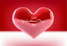 Valentine s day concept. Vector illustration. 3d colorful hearts with thin square frame. Cute love banner or greeting. Card. Place for your text Stock Photography