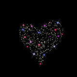 Valentine's day. Constellation of love on night starry background Royalty Free Stock Images