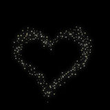 Valentine's day. Constellation of love on night starry background Stock Photography