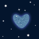 Valentine's day. Constellation of love on night starry background Royalty Free Stock Image