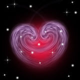Valentine's day. Constellation of love on night starry background Royalty Free Stock Photography