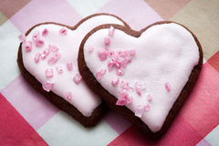 Valentine´s Day cookies Stock Photography