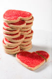 Valentine's Day cookies, with broken heart over marble board Stock Image