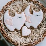 Valentine`s Day cookies Stock Photo