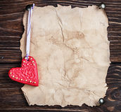 Valentine's Day cookies and old paper Stock Photography