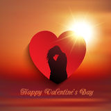 Valentine's Day couple background Stock Photography
