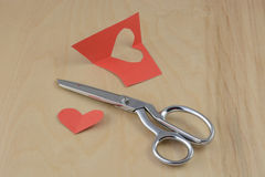 Valentine`s Day crafting project Stock Photography