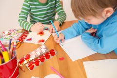 Valentine's Day Crafts: Love and Hearts Royalty Free Stock Images