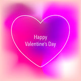 Valentine`s Day creative artistic card. Vector illustration. Royalty Free Stock Photos