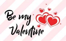 Valentine`s Day Creative Love Design stock illustration
