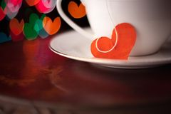 Valentine's day cup Royalty Free Stock Photos